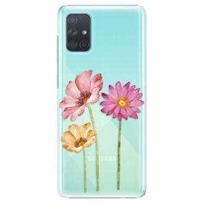 Plastové puzdro iSaprio - Three Flowers - Samsung Galaxy A71