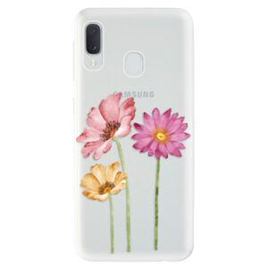 Odolné silikónové puzdro iSaprio - Three Flowers - Samsung Galaxy A20e