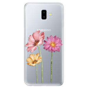 Odolné silikónové puzdro iSaprio - Three Flowers - Samsung Galaxy J6+
