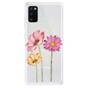 Odolné silikónové puzdro iSaprio - Three Flowers - Samsung Galaxy A41