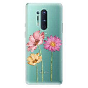 Odolné silikónové puzdro iSaprio - Three Flowers - OnePlus 8 Pro