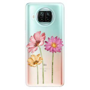 Odolné silikónové puzdro iSaprio - Three Flowers - Xiaomi Mi 10T Lite
