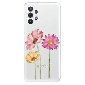 Odolné silikónové puzdro iSaprio - Three Flowers - Samsung Galaxy A32