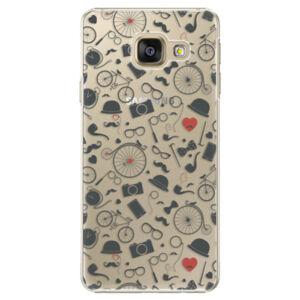 Plastové puzdro iSaprio - Vintage Pattern 01 - black - Samsung Galaxy A3 2016