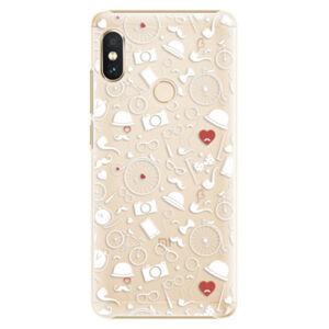 Plastové puzdro iSaprio - Vintage Pattern 01 - white - Xiaomi Redmi Note 5