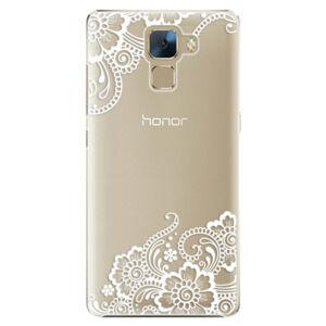 Plastové puzdro iSaprio - White Lace 02 - Huawei Honor 7
