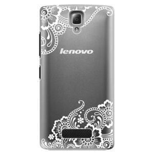 Plastové puzdro iSaprio - White Lace 02 - Lenovo A2010