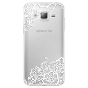 Plastové puzdro iSaprio - White Lace 02 - Samsung Galaxy J3