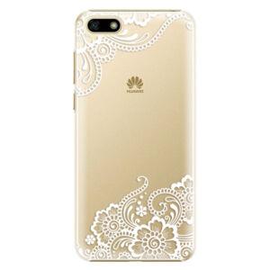 Plastové puzdro iSaprio - White Lace 02 - Huawei Y5 2018