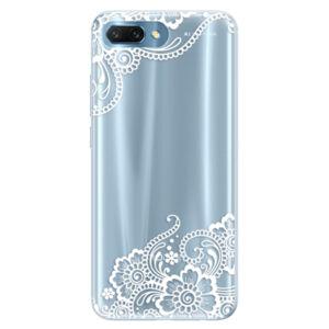 Silikónové puzdro iSaprio - White Lace 02 - Huawei Honor 10