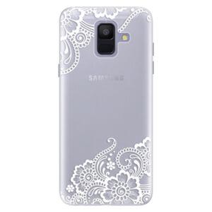 Silikónové puzdro iSaprio - White Lace 02 - Samsung Galaxy A6