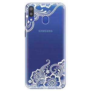 Plastové puzdro iSaprio - White Lace 02 - Samsung Galaxy M20