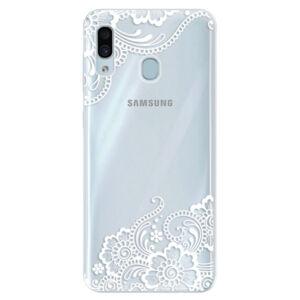 Silikónové puzdro iSaprio - White Lace 02 - Samsung Galaxy A30