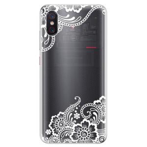 Odolné silikonové pouzdro iSaprio - White Lace 02 - Xiaomi Mi 8 Pro