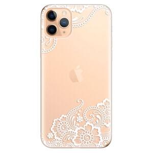 Odolné silikónové puzdro iSaprio - White Lace 02 - iPhone 11 Pro Max