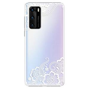 Plastové puzdro iSaprio - White Lace 02 - Huawei P40