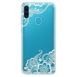 Odolné silikónové puzdro iSaprio - White Lace 02 - Samsung Galaxy M11