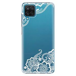 Plastové puzdro iSaprio - White Lace 02 - Samsung Galaxy A12