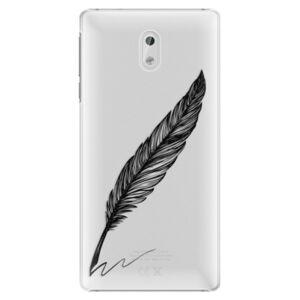Plastové puzdro iSaprio - Writing By Feather - black - Nokia 3