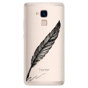 Silikónové puzdro iSaprio - Writing By Feather - black - Huawei Honor 7 Lite