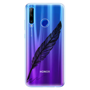 Odolné silikónové puzdro iSaprio - Writing By Feather - black - Huawei Honor 20 Lite