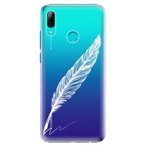 Plastové puzdro iSaprio - Writing By Feather - white - Huawei P Smart 2019