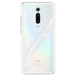 Plastové puzdro iSaprio - Writing By Feather - white - Xiaomi Mi 9T Pro