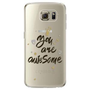 Plastové puzdro iSaprio - You Are Awesome - black - Samsung Galaxy S6 Edge