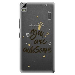 Plastové puzdro iSaprio - You Are Awesome - black - Lenovo A7000