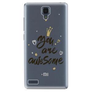 Plastové puzdro iSaprio - You Are Awesome - black - Xiaomi Redmi Note