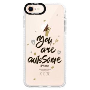 Silikónové púzdro Bumper iSaprio - You Are Awesome - black - iPhone 8