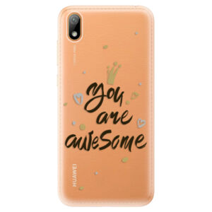 Odolné silikónové puzdro iSaprio - You Are Awesome - black - Huawei Y5 2019