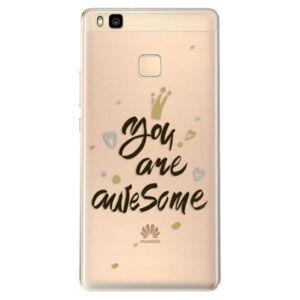 Odolné silikónové puzdro iSaprio - You Are Awesome - black - Huawei Ascend P9 Lite