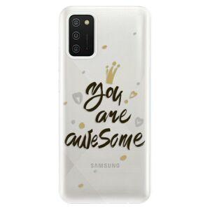 Odolné silikónové puzdro iSaprio - You Are Awesome - black - Samsung Galaxy A02s