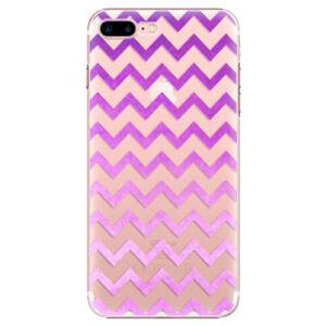 Plastové puzdro iSaprio - Zigzag - purple - iPhone 7 Plus