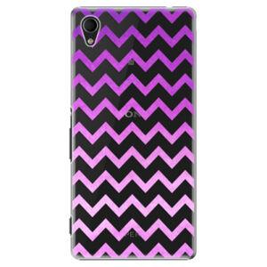 Plastové puzdro iSaprio - Zigzag - purple - Sony Xperia M4