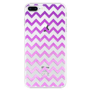 Plastové puzdro iSaprio - Zigzag - purple - iPhone 8 Plus