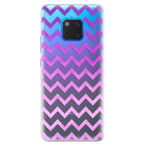 Silikónové puzdro iSaprio - Zigzag - purple - Huawei Mate 20 Pro