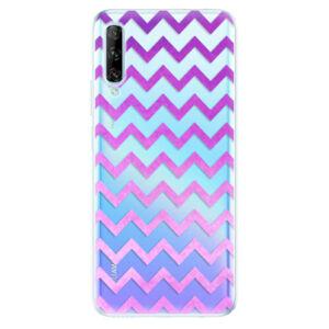 Odolné silikónové puzdro iSaprio - Zigzag - purple - Huawei P Smart Pro