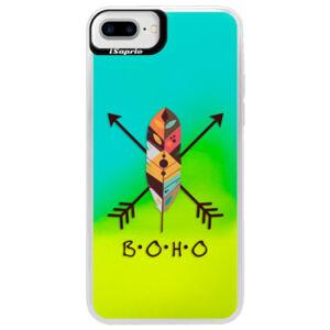 Neónové puzdro Blue iSaprio - BOHO - iPhone 7 Plus