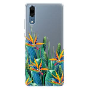 Silikónové puzdro iSaprio - Exotic Flowers - Huawei P20