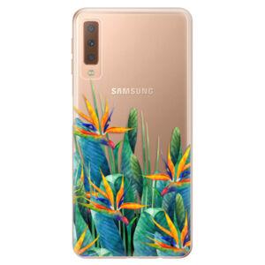 Odolné silikónové puzdro iSaprio - Exotic Flowers - Samsung Galaxy A7 (2018)