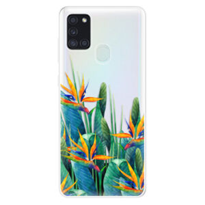 Odolné silikónové puzdro iSaprio - Exotic Flowers - Samsung Galaxy A21s