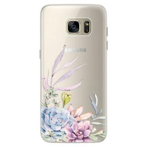 Silikónové puzdro iSaprio - Succulent 01 - Samsung Galaxy S7 Edge