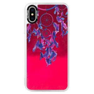Neónové púzdro Pink iSaprio - Dreamcatcher 01 - iPhone XS