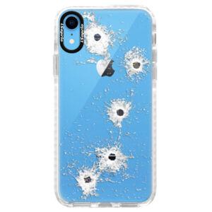 Silikónové púzdro Bumper iSaprio - Gunshots - iPhone XR