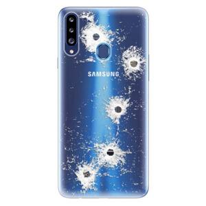 Odolné silikónové puzdro iSaprio - Gunshots - Samsung Galaxy A20s
