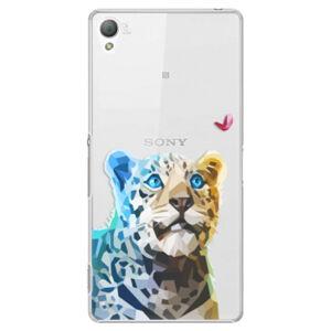 Plastové puzdro iSaprio - Leopard With Butterfly - Sony Xperia Z3