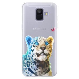 Silikónové puzdro iSaprio - Leopard With Butterfly - Samsung Galaxy A6