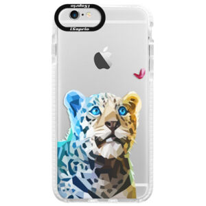 Silikónové púzdro Bumper iSaprio - Leopard With Butterfly - iPhone 6/6S